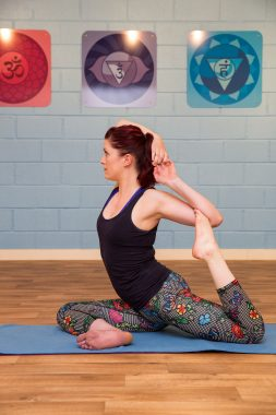 Become strong and open with One Legged King Pigeon Pose