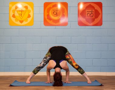 Feeling stretchy this week? Practice Prasarita Padottanasana with us at Yogafurie