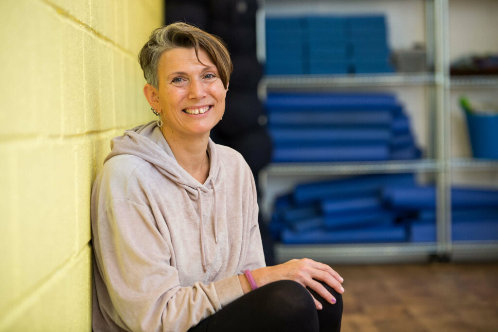 Daphne, a long-standing student of Yogafurie and now its Teacher Training programme
