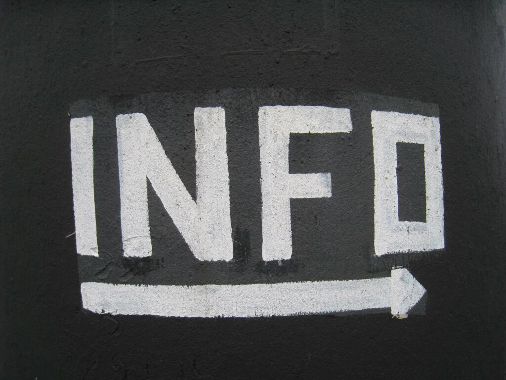 information arrow leading truth