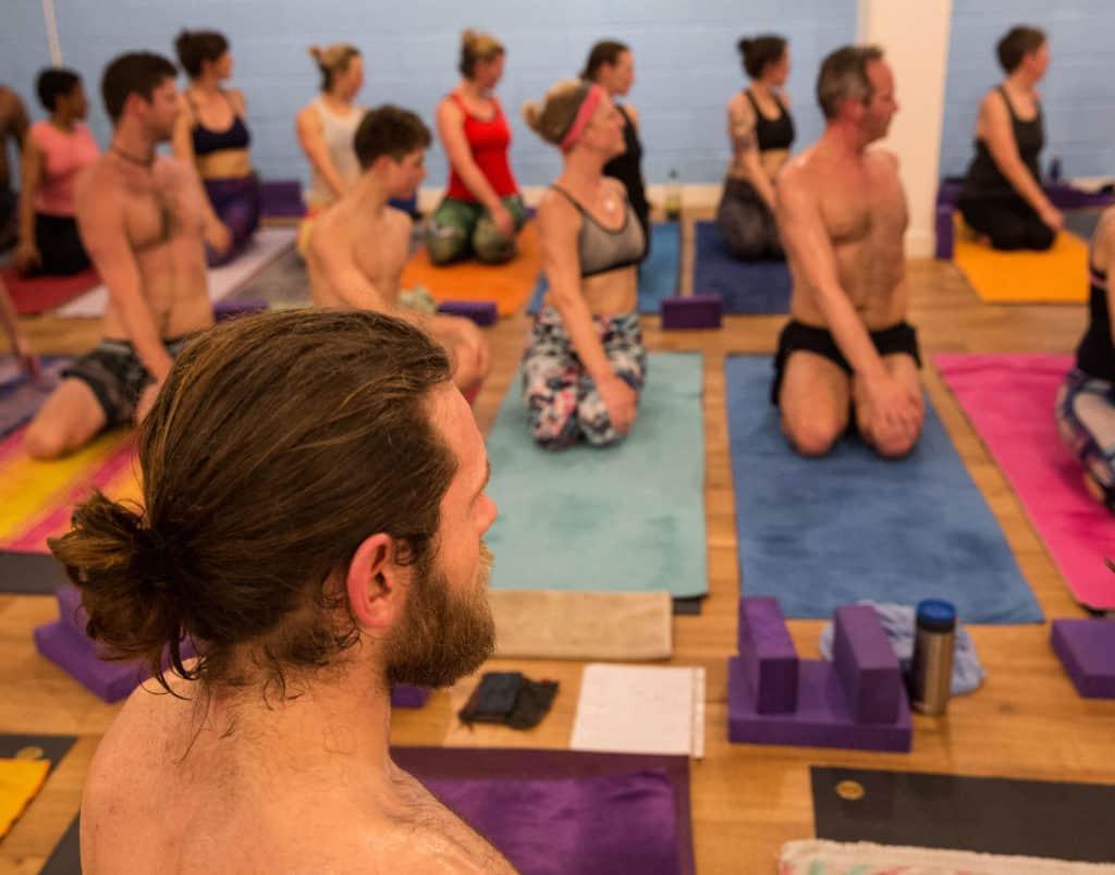 Aaron teaching a Yogafurie hot yoga class