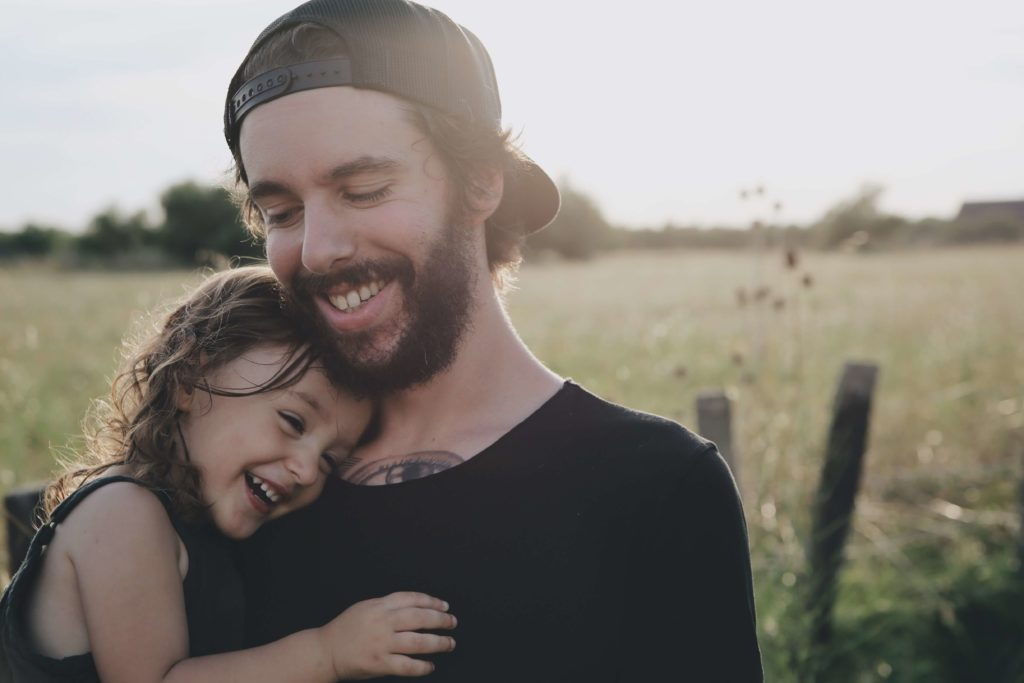 Father with his daughter enjoying some quality time together