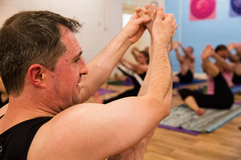 Ed teaching at the state of the art Yogafurie hot yoga studio