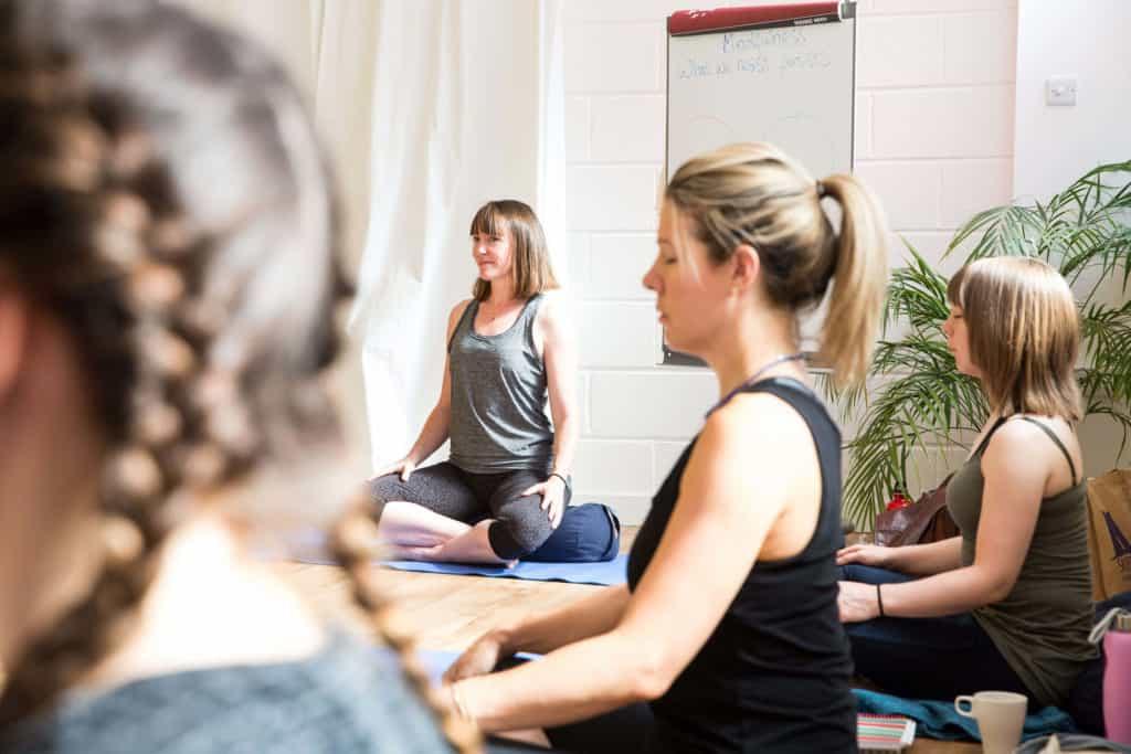 Morven teaching a mindfulness class