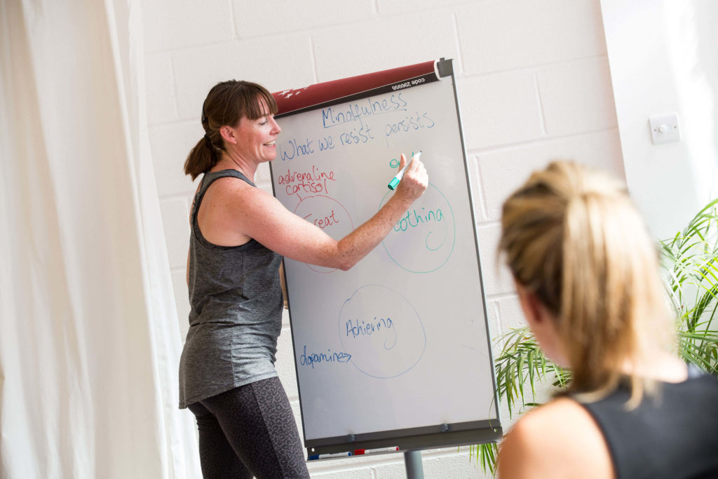 Morven teaching students at Yogafurie