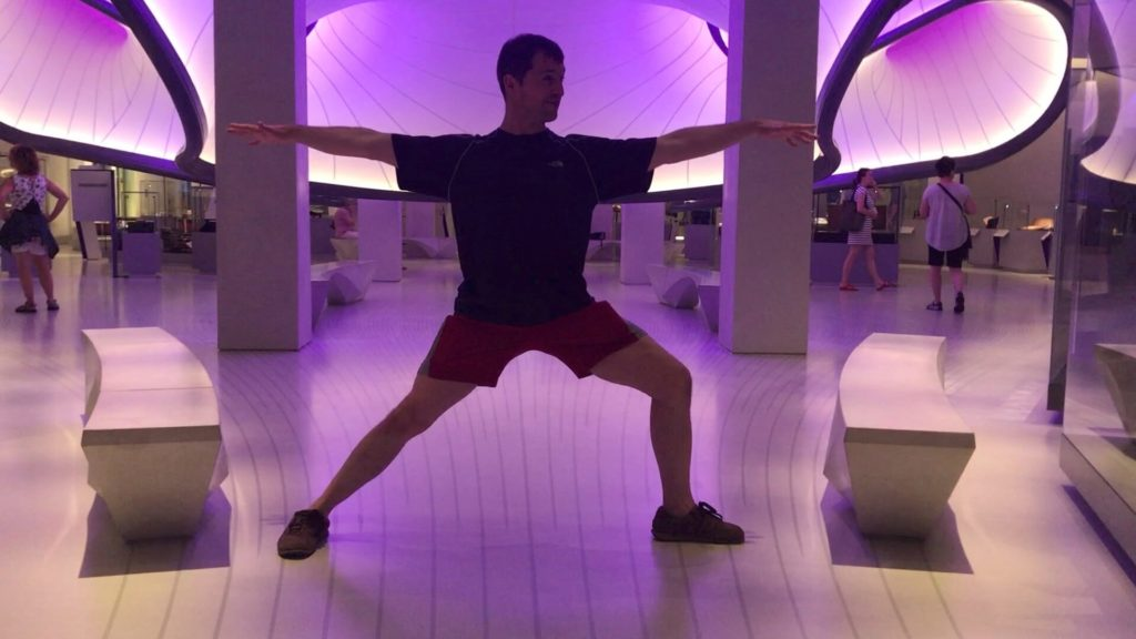 Ed showing a Warrior 2 pose