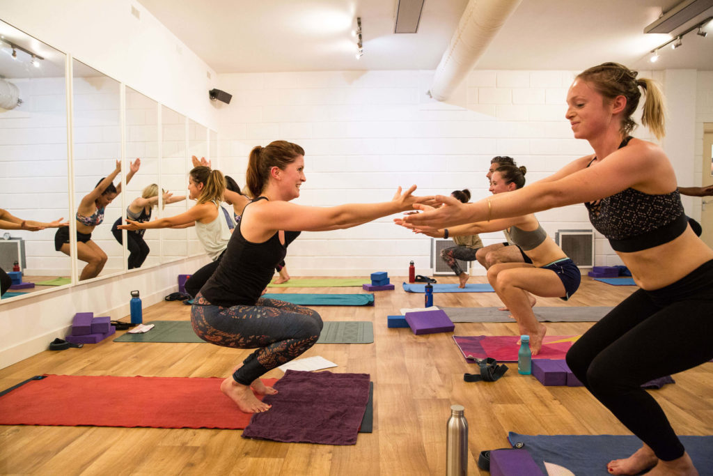 A hot yoga class at Yogafurie led by Sinead