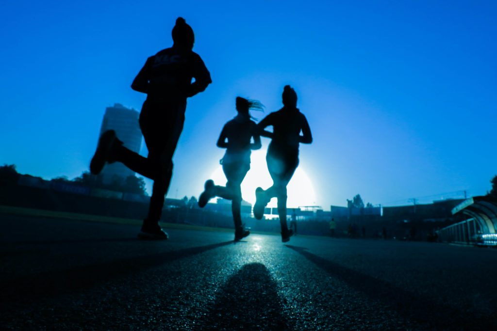 People going for a run
