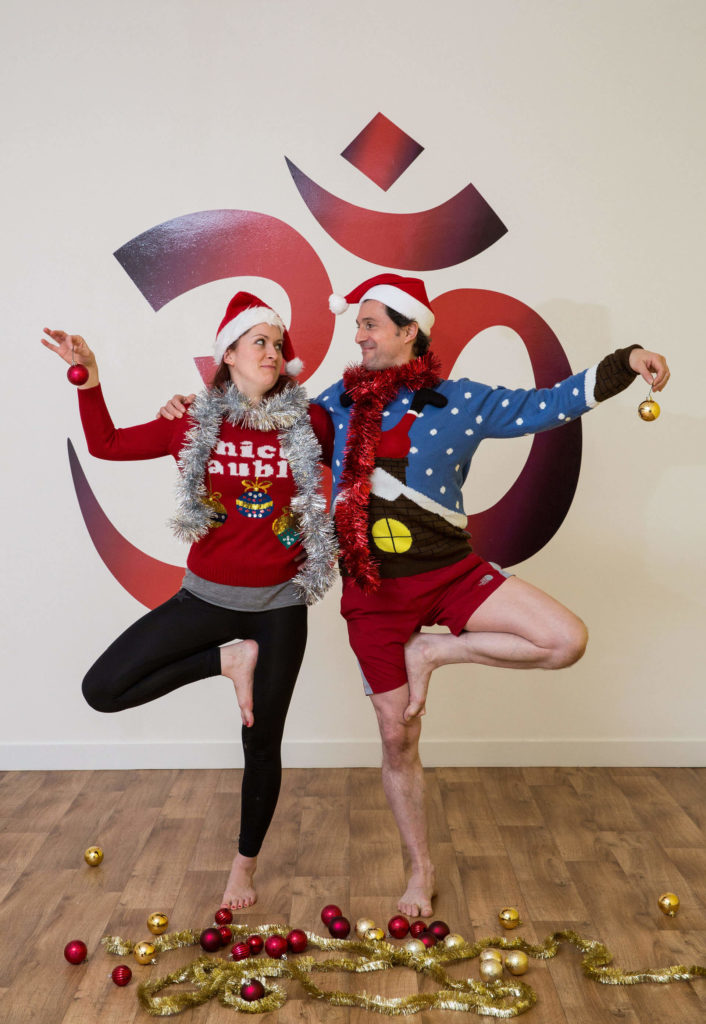 Ed and Sinead doing their version of Christmas tree pose
