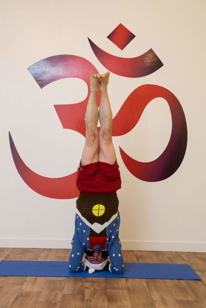 Ed showing full headstand
