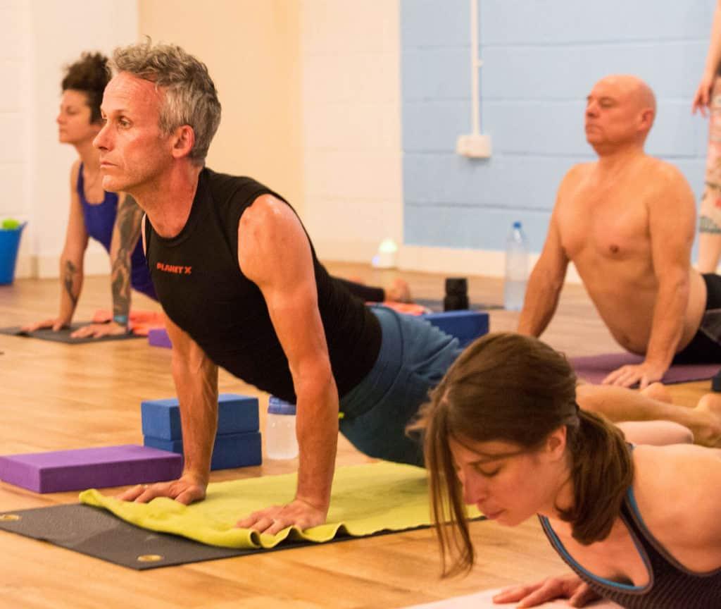 A Yogafurie hot yoga class