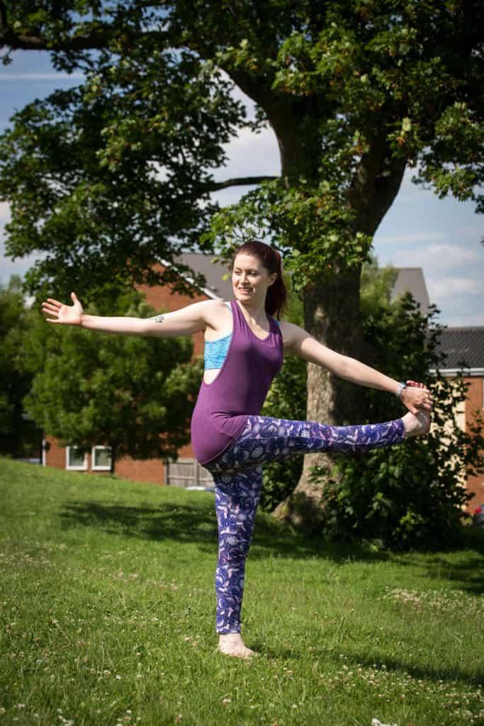 Sinead demonstrates dancing shiva pose
