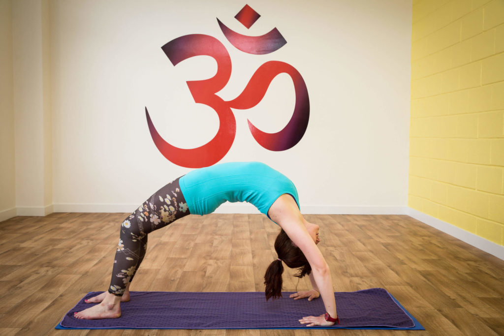 Sinead demonstrates upwards bow pose