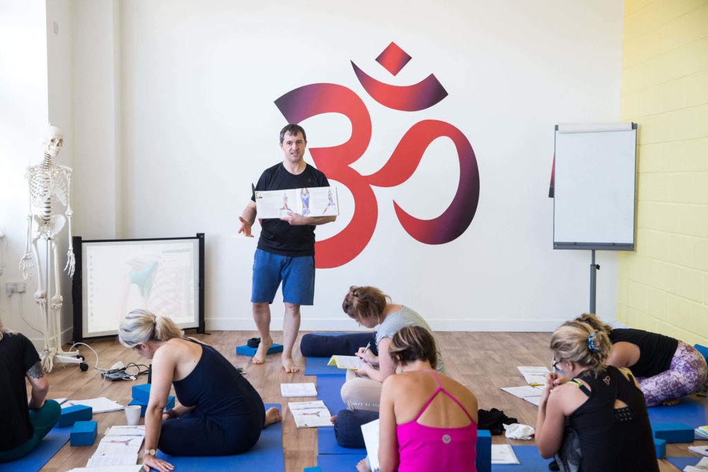 Ed teaching Human Anatomy and the Physical Practice of Yoga to trainees.