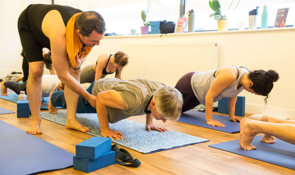Ed teaching Upwards Facing Dog from Chaturanga Dandasana