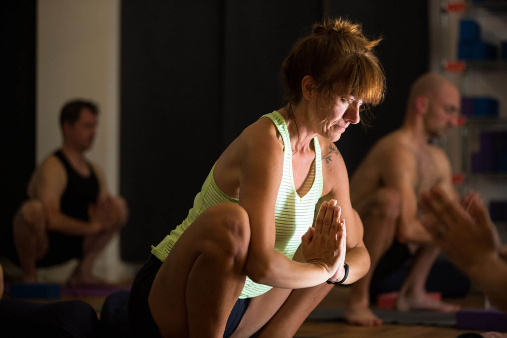 Malasana or garland pose is sometimes known as squat position