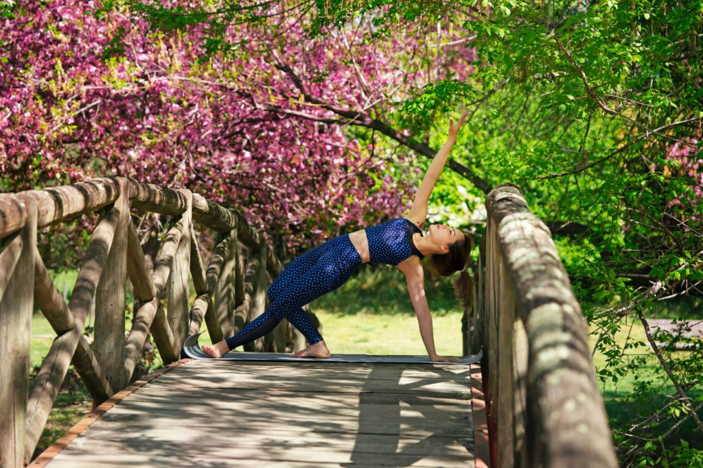 A great pose to do after side plank is wild thing
