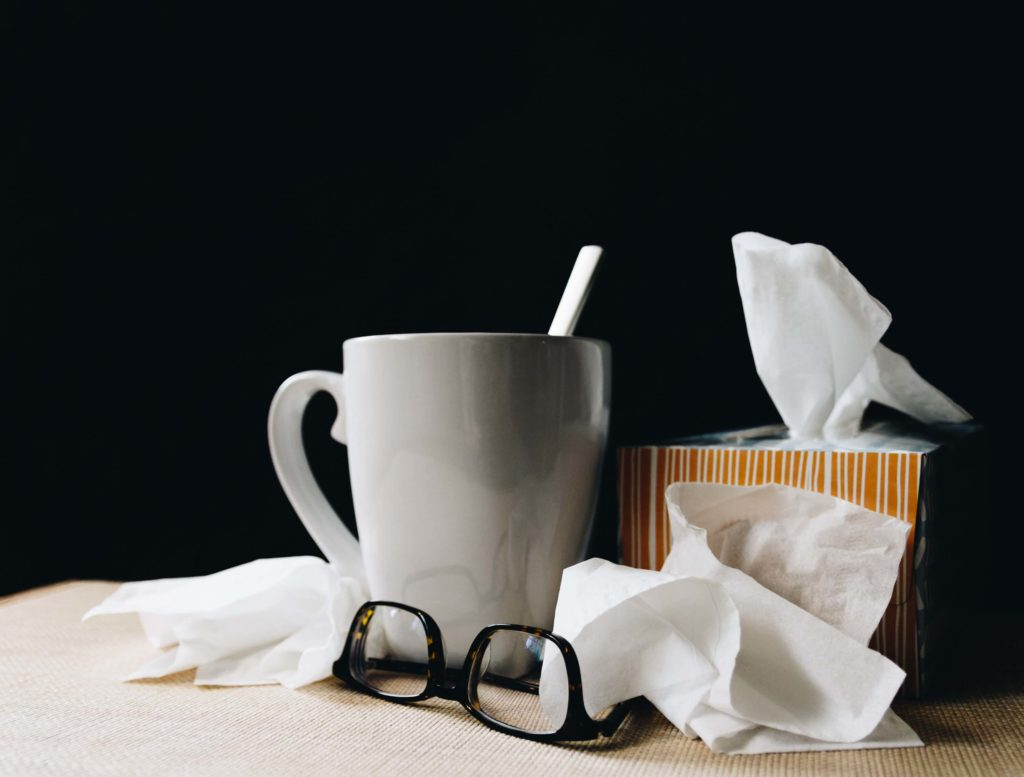 Colds and flus are common during the winter and you'll find yourself needing hot drinks and tissues if you catch one