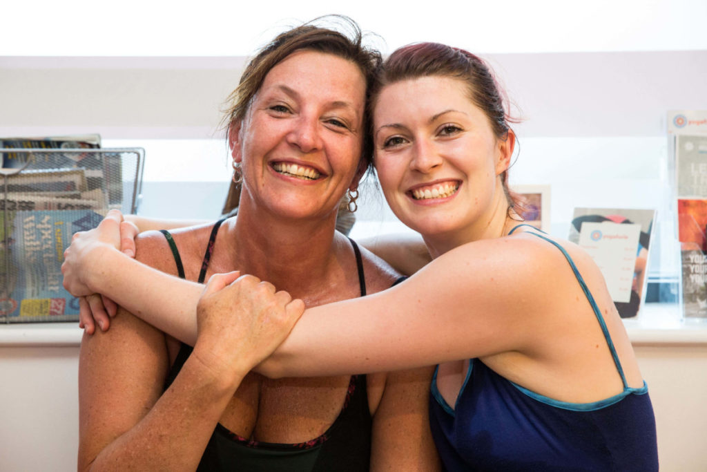 Sinead with Yogafurie member after Hot yoga class.
