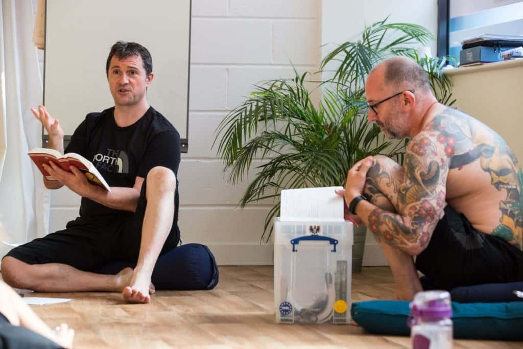 Ed teaching at a Yogafurie Teaching Weekend