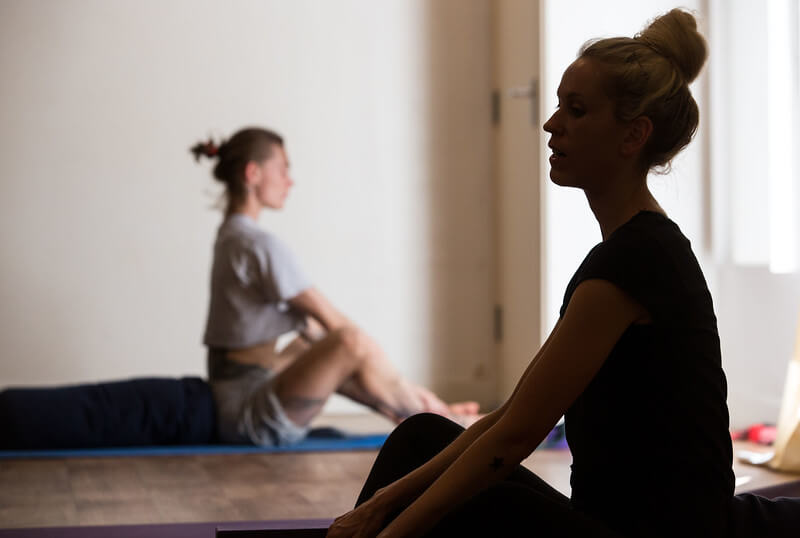 Yoga calms the mind