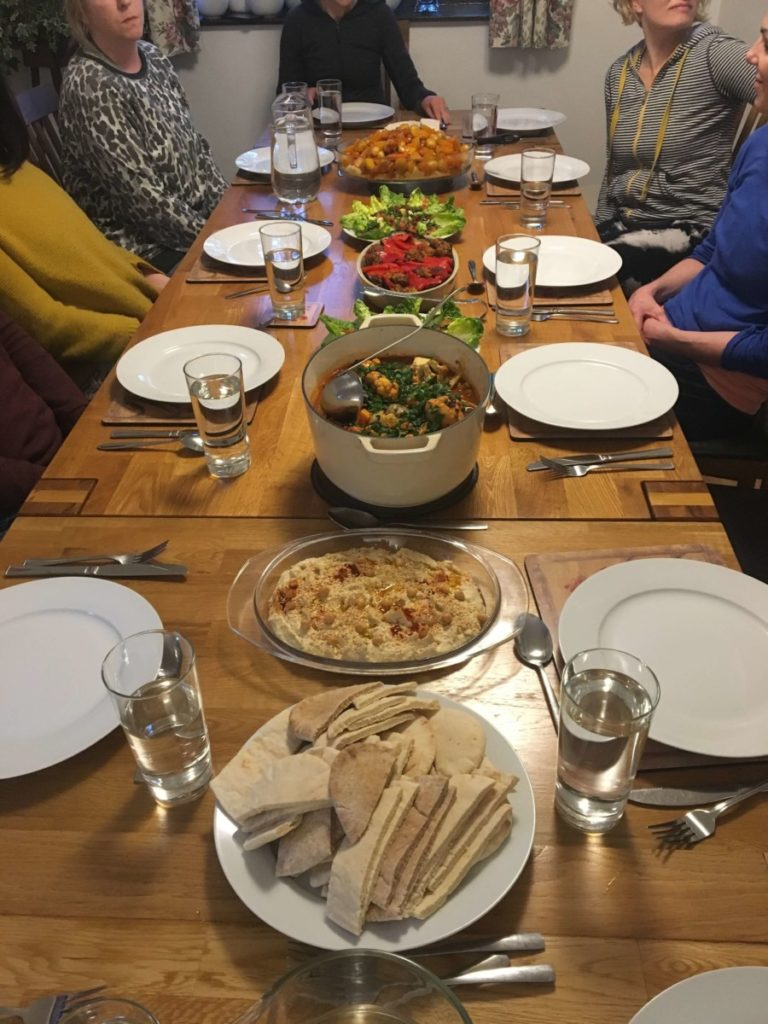 delicious meal at yoga retreat