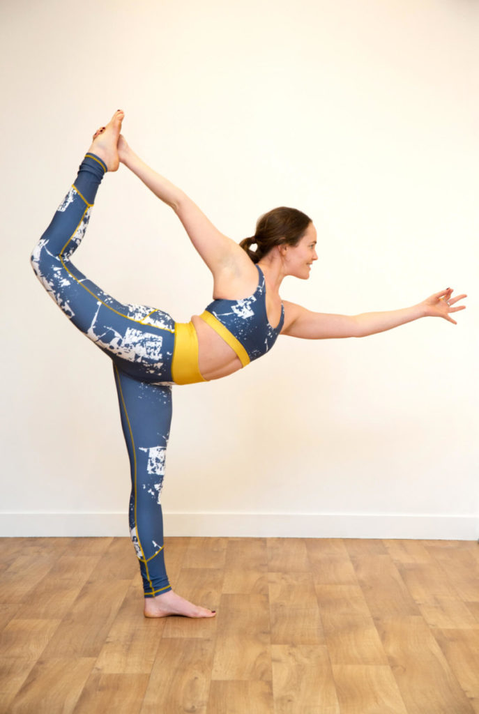 woman balancing in yoga for runners class