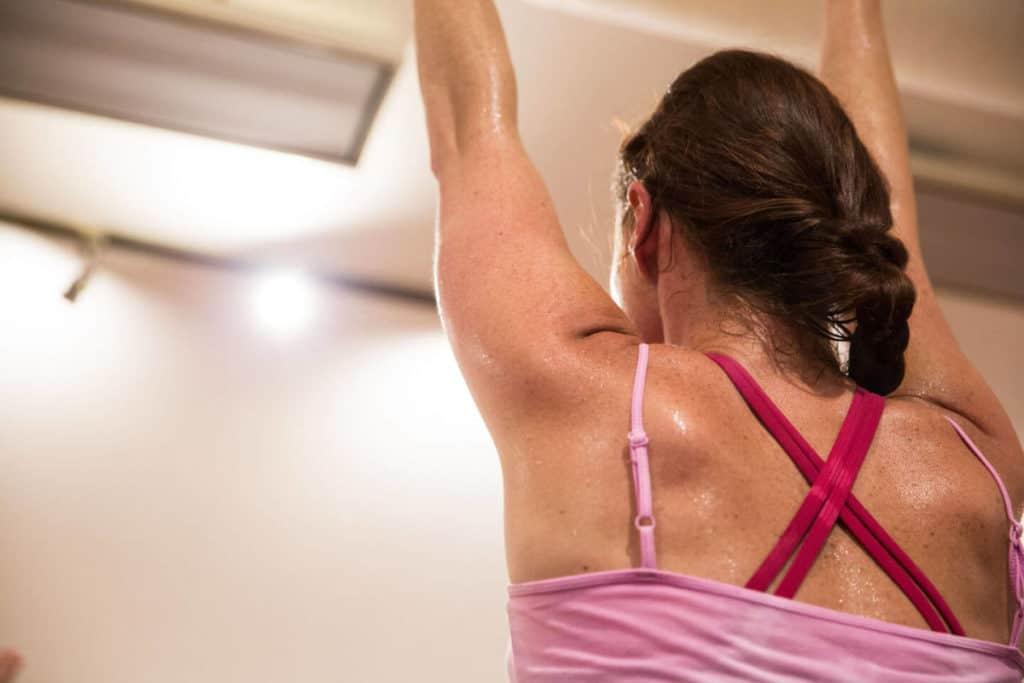 lady stretching, yoga for boosting immune system