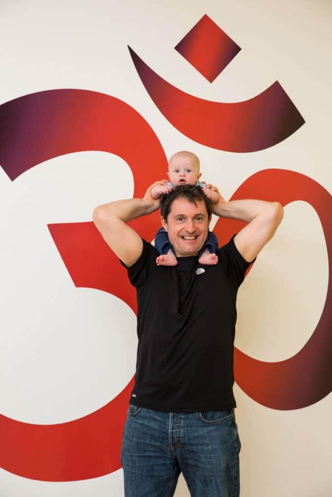 Ed and baby Hamish