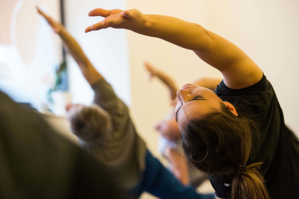 Lisa on her 200 hours teacher training course-intuiged by yoga as an ancient practice