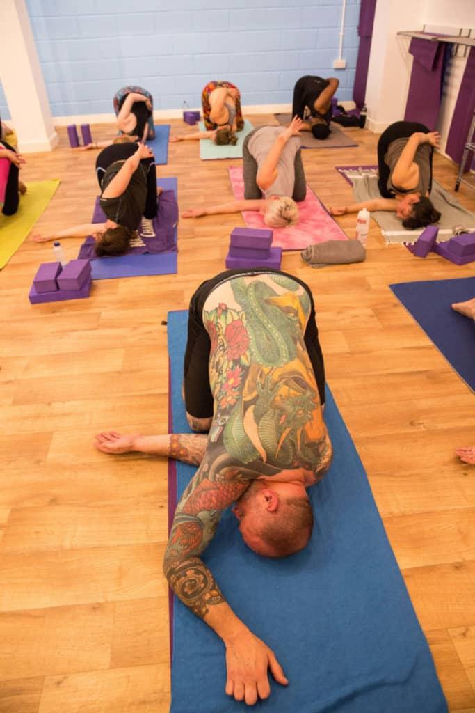 James teaching at yogafurie