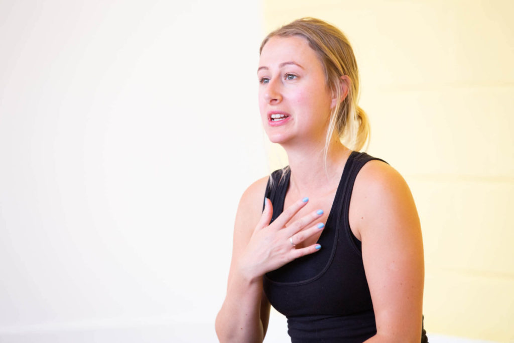 Sharing vulnerabilities in a safe space at yoga teacher training