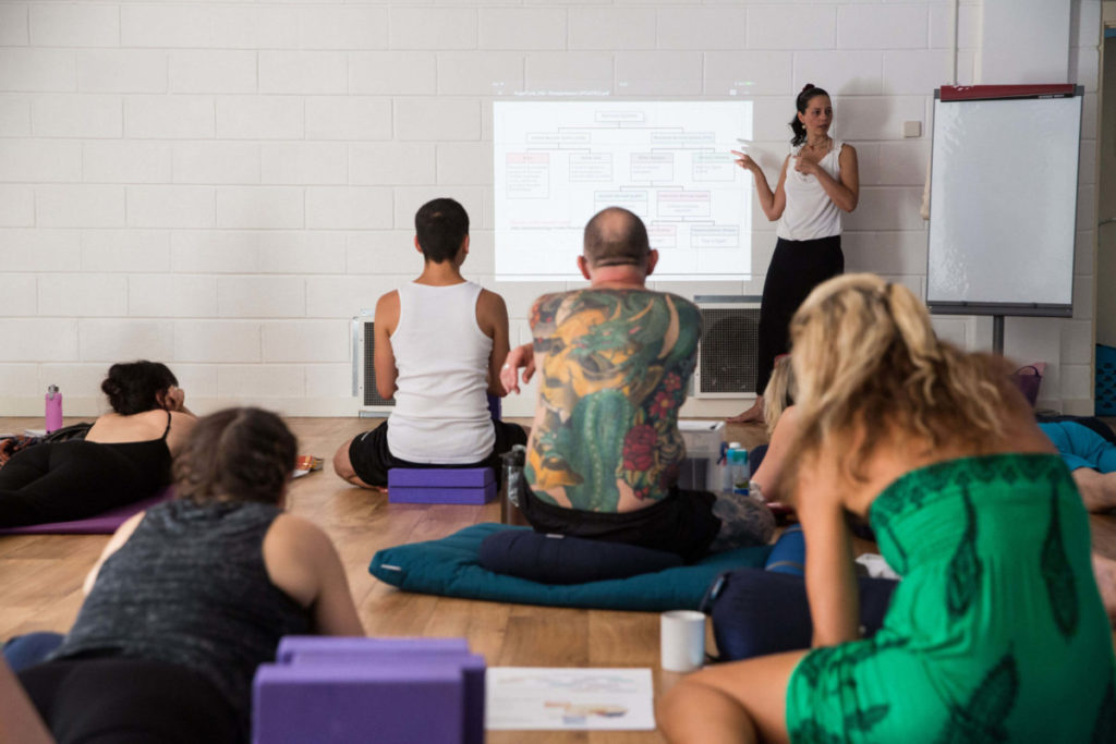 james on his teacher training weekend, building his interest in breath within yoga