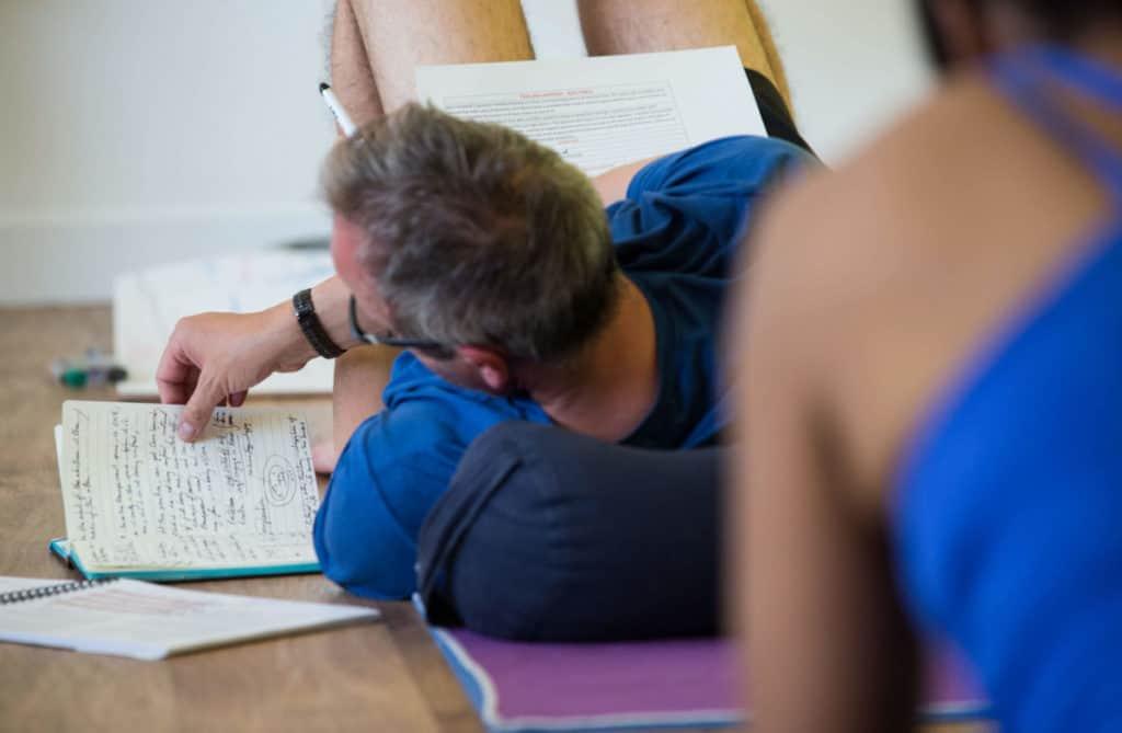 man studying yoga in bristol