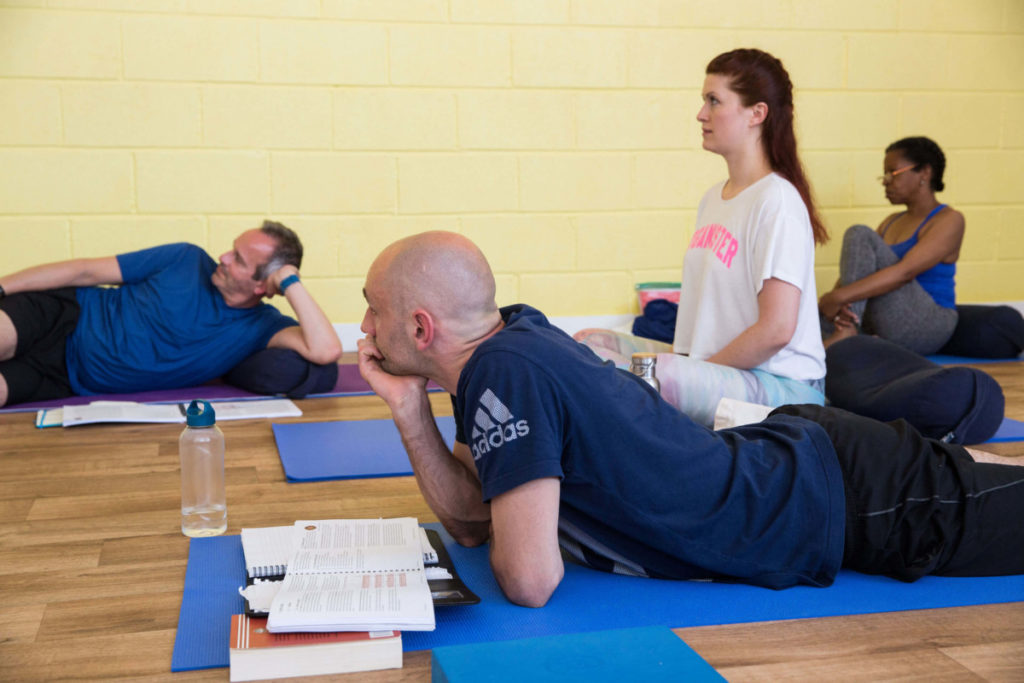 a picture of learning yoga in bristol