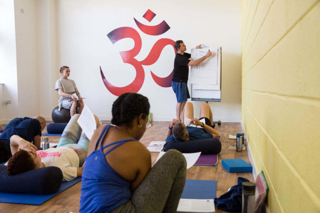 A peek inside the lectures of yoga teacher training